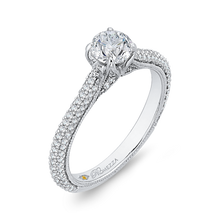 Load image into Gallery viewer, Cathedral Style Diamond Engagement Ring Promezza PR0139ECQ-44W-.50