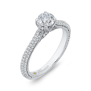Cathedral Style Diamond Engagement Ring Promezza PR0139ECQ-44W-.50