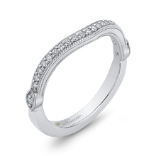 Load image into Gallery viewer, Curved Channel Set Diamond Wedding Band Promezza PR0175BH-44W-.75