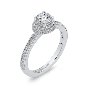 Engagement Ring with Round Diamond Promezza PR0177ECH-44W-.50