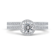 Load image into Gallery viewer, Engagement Ring with Round Diamond Promezza PR0177ECH-44W-.50