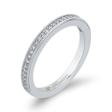 Load image into Gallery viewer, Diamond Studded Wedding Band Promezza PR0178BH-44W-.50