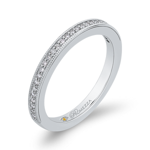 Diamond Studded Wedding Band Promezza PR0178BH-44W-.50