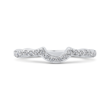 Load image into Gallery viewer, Floating Round Diamond Wedding Band Promezza PR0179BQ-44W-.50