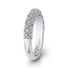 Load image into Gallery viewer, Braided Diamond Wedding Band Promezza PR0180BH-44W-.75