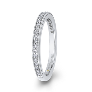 Round Diamond Wedding Band Promezza PR0184BQ-44W-.75