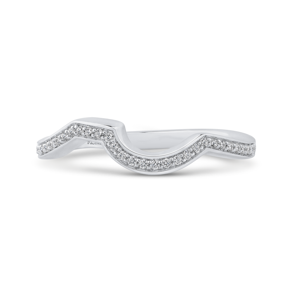 Twisting Half-Eternity Diamond Wedding Band Promezza PR0199BH-44W-.50
