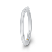 Load image into Gallery viewer, Curved Widening Plain wedding Band Promezza PR0201B-W-.50
