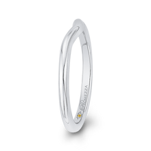 Load image into Gallery viewer, Curved Widening Plain Wedding Band Promezza PR0201B-W-.75