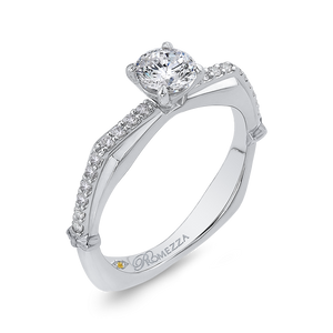 Diamond Engagement Ring in White Gold Promezza PR0204ECH-44W-.50