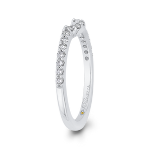 Open Twist Diamond Wedding Band Promezza PR0205BH-44W-.75