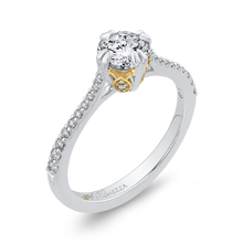 Load image into Gallery viewer, Round Diamond Engagement Ring with Two Tone Gold Promezza PR0205ECH-44WY-.75