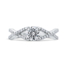 Load image into Gallery viewer, Criss-Cross Engagement Ring with Round Diamond Promezza PR0209ECQ-44W-.75