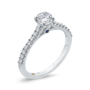 Cathedral Style Diamond Engagement Ring Promezza PR0227ECH-44W-.50