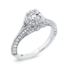 Load image into Gallery viewer, Vintage Split Shank Engagement Ring with Round Diamond Promezza PR0231ECH-44W-.50
