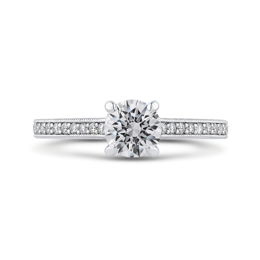 Cathedral Style Diamond Engagement Ring Promezza PR0235ECQ-44W-.75