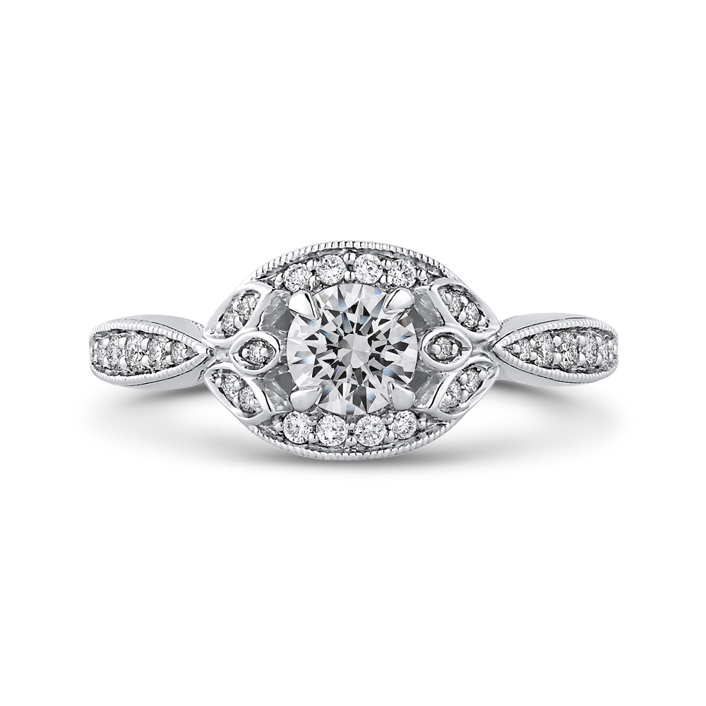 Round Diamond Engagement Ring Promezza PR0245ECH-44W-.50