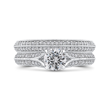 Load image into Gallery viewer, Split Shank Round Diamond Engagement Ring Promezza PR0246ECH-44W-.75