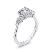 Load image into Gallery viewer, Floral Engagement Ring with Halo Diamond Promezza PR0247EC-44W-.75