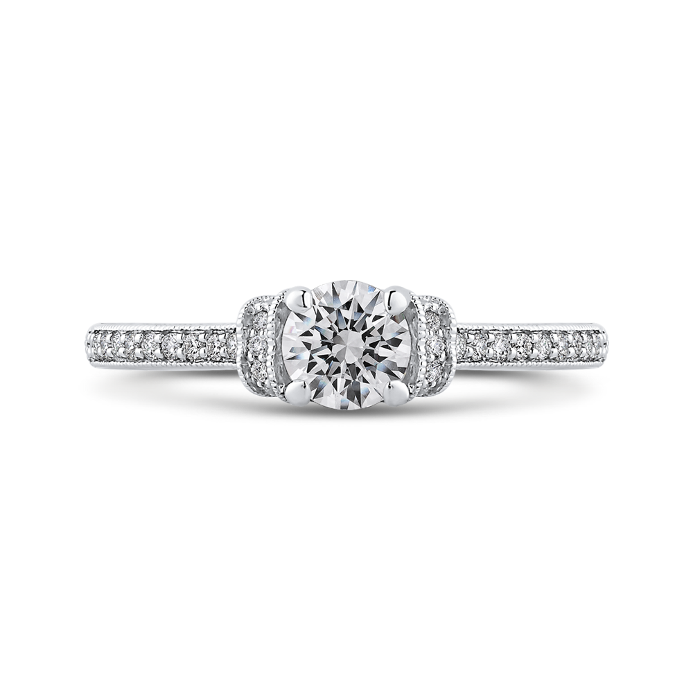 Diamond Engagement Ring with Round Diamond Promezza PR0252ECH-44W-.50
