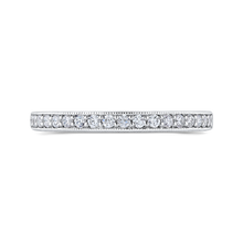 Load image into Gallery viewer, Channel and Pave Diamond Wedding Band Promezza PR0255BH-44W-.50