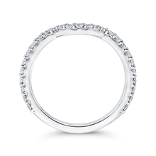Load image into Gallery viewer, Crown Diamond Wedding Band Promezza PRA0251BQ-44W-.75
