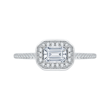 Load image into Gallery viewer, Emerald Cut Diamond Engagement Ring Promezza PRE0038EC-02W