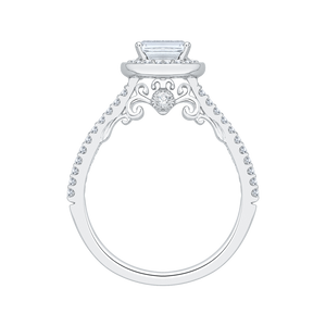 Emerald Cut Diamond Engagement Ring Promezza PRE0038EC-02W