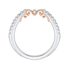 Load image into Gallery viewer, White and Rose Gold Diamond Wedding Band Promezza PRH0154BH-44WP-.50