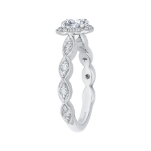 Load image into Gallery viewer, Oval Diamond Halo Engagement Ring Promezza PRO0075ECQ-44W-.50