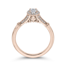 Load image into Gallery viewer, Rose Gold Cathedral Style Engagement Ring Promezza PRO0250EC-44P-.50