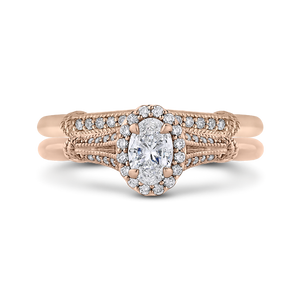 Rose Gold Cathedral Style Engagement Ring Promezza PRO0250EC-44P-.50