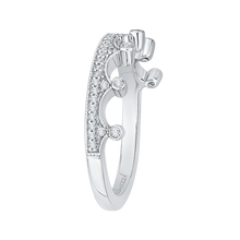 Load image into Gallery viewer, White Gold Crown Shape Diamond Wedding Band Promezza PRQ0133BH-44W-.50