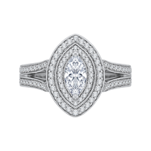 Load image into Gallery viewer, Split Shank Marquise Diamond Engagement Ring Promezza PRQ0135ECH-44W-.50