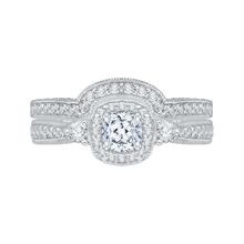 Load image into Gallery viewer, Cushion Diamond Halo Engagement Ring Promezza PRU0008EC-02W