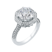 Load image into Gallery viewer, Octagon Shape Halo Engagement Ring with Round Cut Diamond Carizza Boutique QR0047K-40W