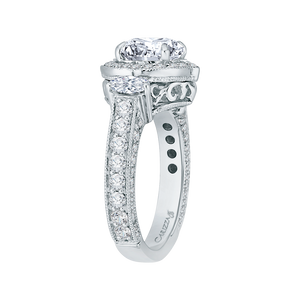 Semi-Mount Round Diamond Engagement Ring Carizza Boutique QR0053K-40W