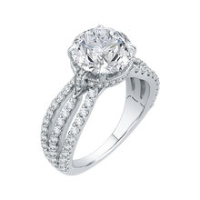 Load image into Gallery viewer, Split Shank Round Diamond Engagement Ring Carizza Boutique QRO0034K-40W