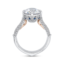 Load image into Gallery viewer, Sapphire Two Tone Gold Diamond Engagement Ring Carizza Boutique QR0071EHK-S40WP-3.00