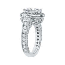 Load image into Gallery viewer, Semi-Mount Emerald Diamond Bridal Ring Carizza Boutique QRE0014K-40W