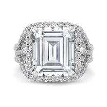 Load image into Gallery viewer, Emerald Cut Diamond Halo Engagement Ring