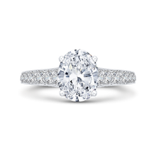 Load image into Gallery viewer, Oval Shape Semi-Mount Diamond Engagement Ring Carizza Boutique QRO0050K-40W