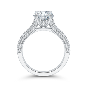 Oval Shape Semi-Mount Diamond Engagement Ring Carizza Boutique QRO0050K-40W