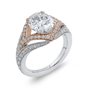 Split Shank Oval Diamond Engagement Ring Carizza Boutique QRO0066EQK-40WP-3.00