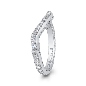 Twisted Diamond Wedding Band Carizza Boutique QRU0062BK-40W-4.00