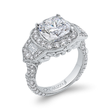 Load image into Gallery viewer, Cushion Diamond Halo Engagement Ring Carizza Boutique QRU0062EK-40W-4.00