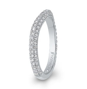 Diamond Wedding Band Carizza Boutique QRU0063BK-40W
