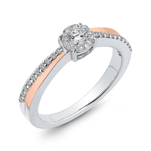 Load image into Gallery viewer, Two Tone Gold Diamond Fashion Ring Luminous RF1009T-42WP