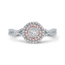 Load image into Gallery viewer, Diamond Double Halo Fashion Ring Luminous RF1011T-42WP