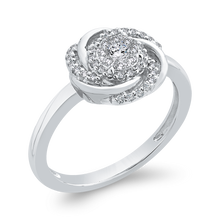 Load image into Gallery viewer, Round Diamond Swirl Fashion Ring Luminous RF1050T-42W